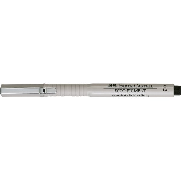 Faber-Castell Ecco Pigment Finepen 0,2 mm, sort