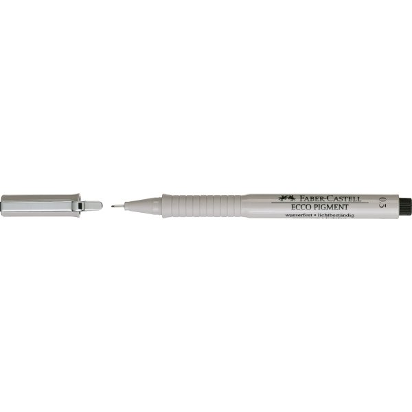 Faber-Castell Ecco Pigment Finepen 0,3 mm, sort