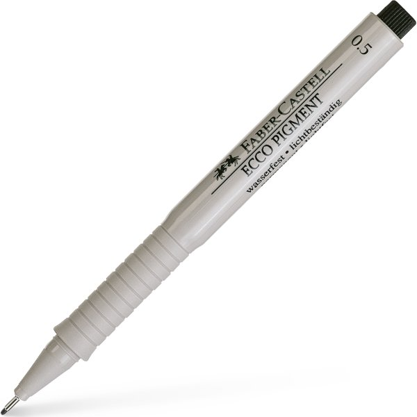 Faber-Castell Ecco Pigment Finepen 0,5 mm, sort