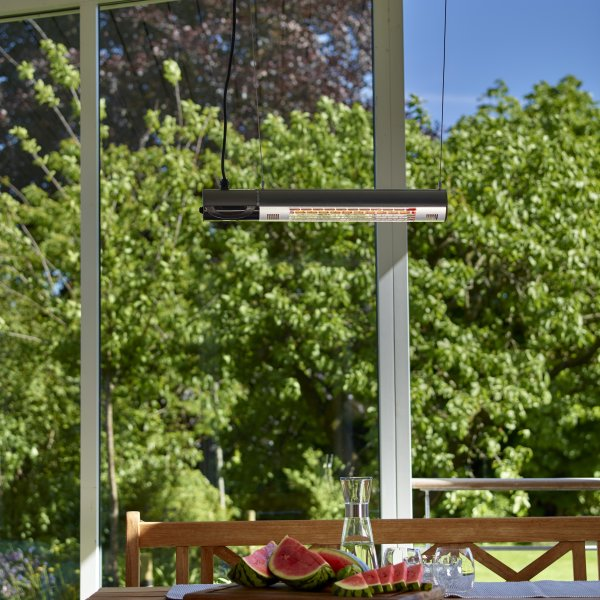 Terrassevarmer vægmodel L 1500 W remote GT