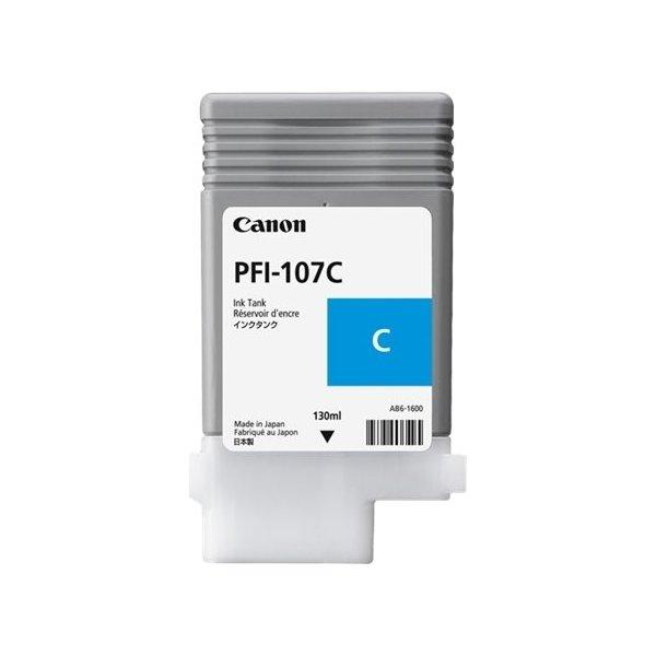 Canon PFI-107 blækpatron, blå, 130 ml.