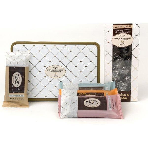 Luksusgourmet med delikat chokolade
