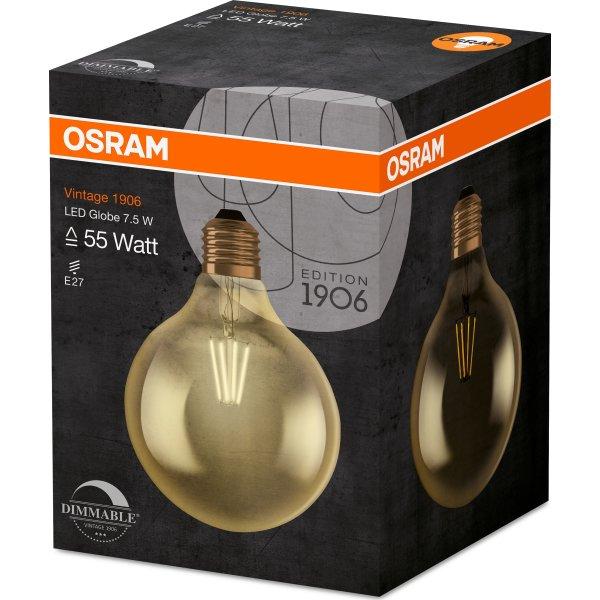 Osram Vintage 1906 LED Globepære E27, 6,5W=51W