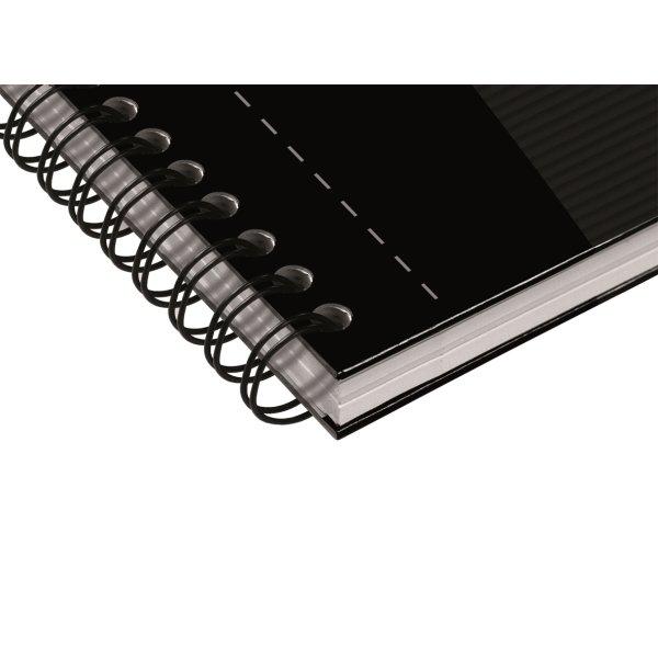 Oxford Smart Black Spiralbog A5, kvadreret, sort