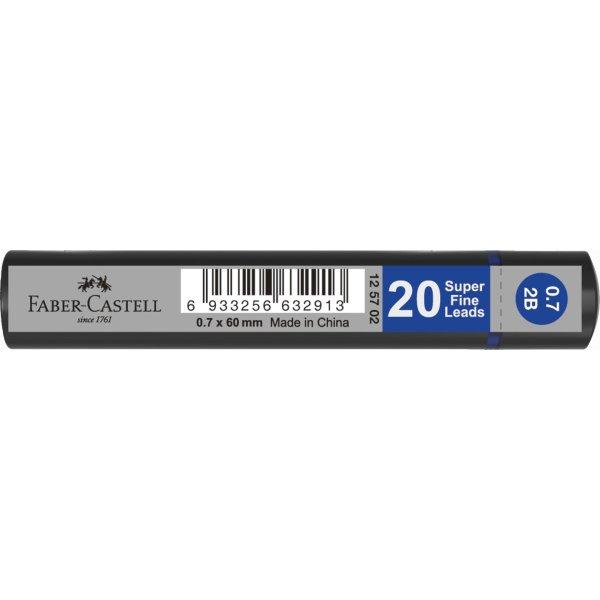 Faber-Castell Grip Stifter 0,7 mm 2B, 20 stk.