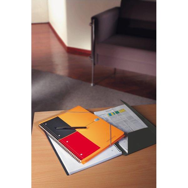Oxford Int. Meetingbook Spiralbog A5+, kvadreret