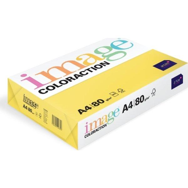 Image Coloraction A4, 80g, 500ark, citrusgul