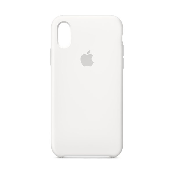 Apple cover til iPhone Xs i silicone, hvid