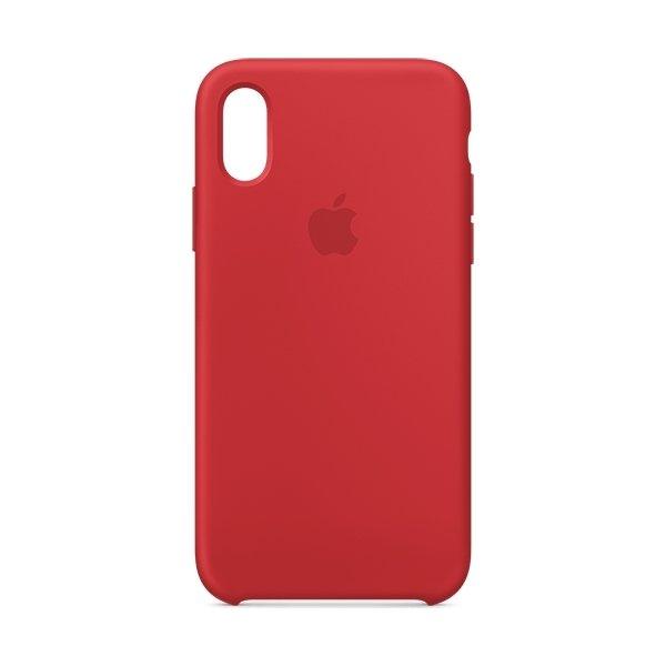 Apple cover til iPhone Xs i silikone, rød