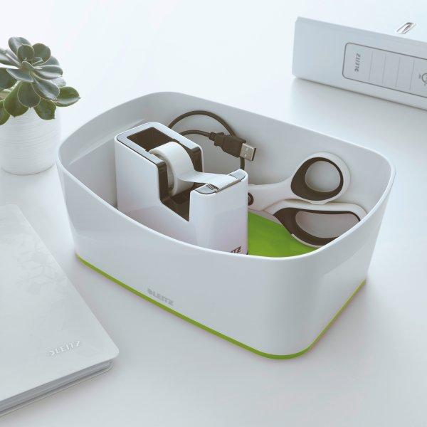 Leitz MyBox Opbevaringsbakke, hvid/grøn