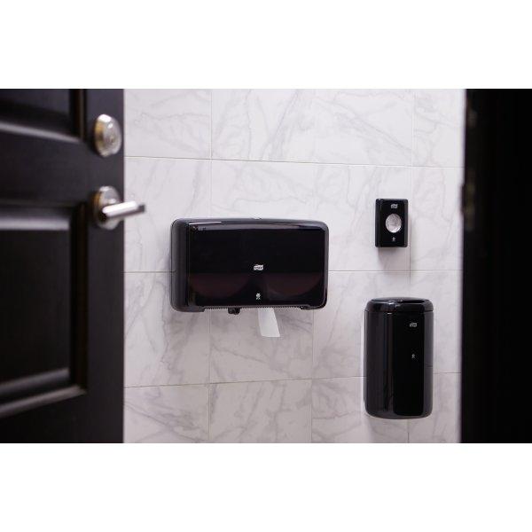 Tork T2 Twin Dispenser Jumbo toiletpapir, sort