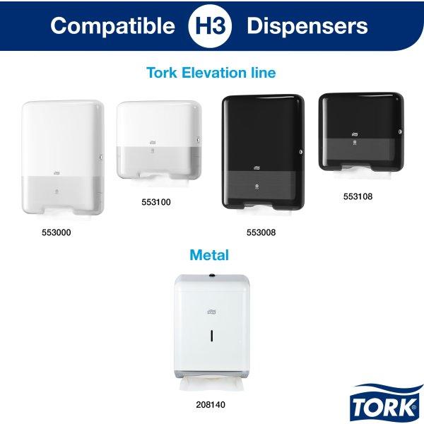 Tork H3 Advanced Håndklædeark, 3-fold, 20 pk