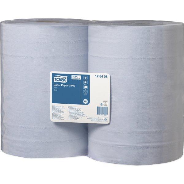 Tork W1 Basic Aftørringspapir, blå