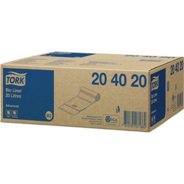 Tork B2 Affaldsposer, 20 liter, hvid