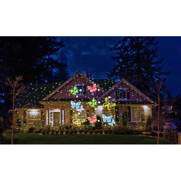 Moderne Udendørs julelys LED laser projektor - Lomax A/S XC31