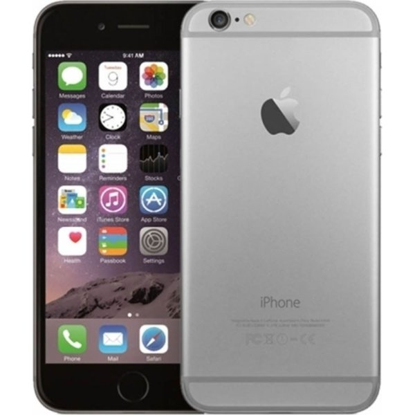 Brugt Apple iPhone 6, 128GB, Space Gray, (B)