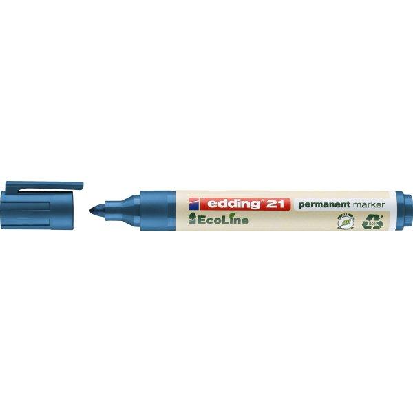 Edding 21 ecoline permanent marker, blå