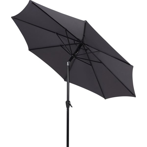 Felix parasol m/krank og tilt, Ø3 m, grå