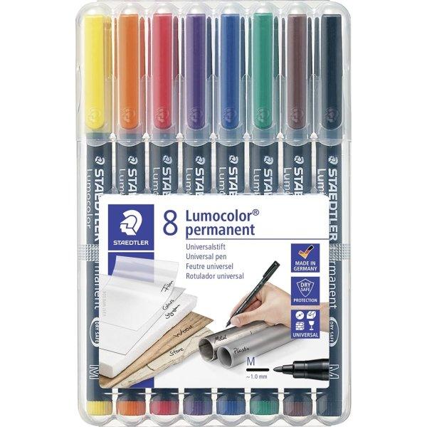 Staedtler Lumocolor 317 Marker M, perm, 8 stk.