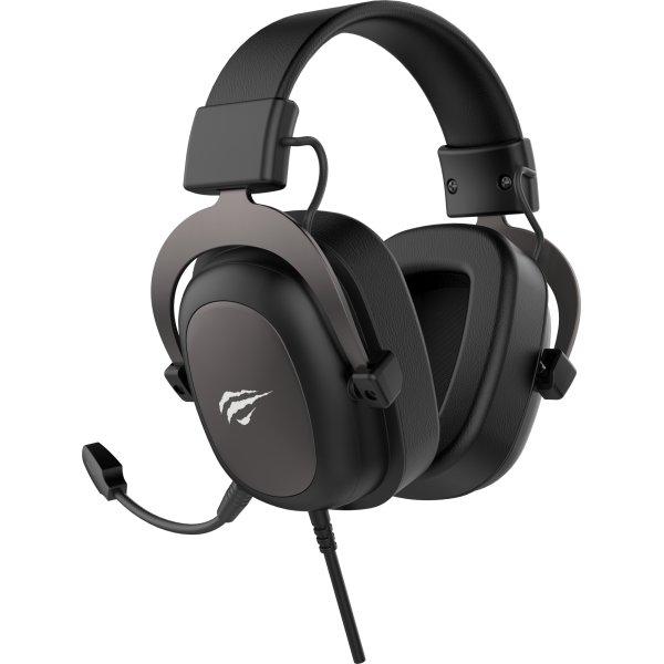 Havit H2002U Gaming Headset, sort/metalgrå