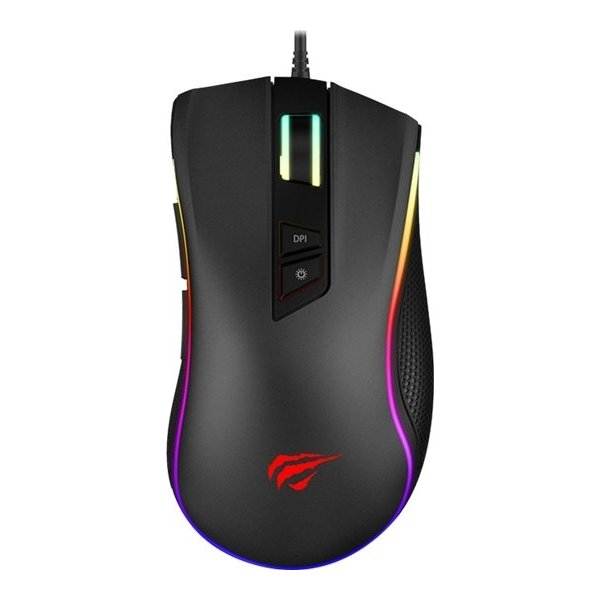 Havit MS300 RGB programmerbar gaming mus, sort