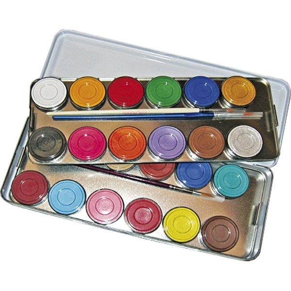 Eulenspiegel Ansigtsmaling Palette, 24 farver