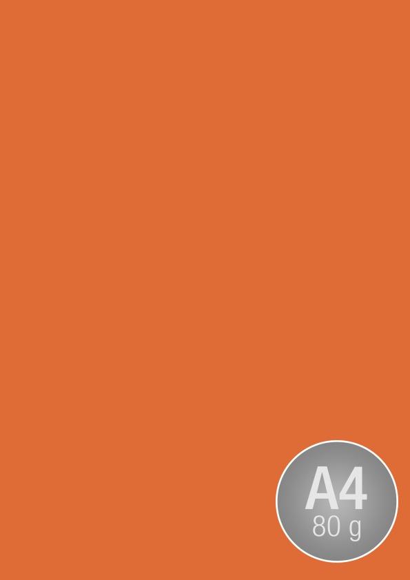 Image Coloraction A4, 80g, 500ark, mørk orange
