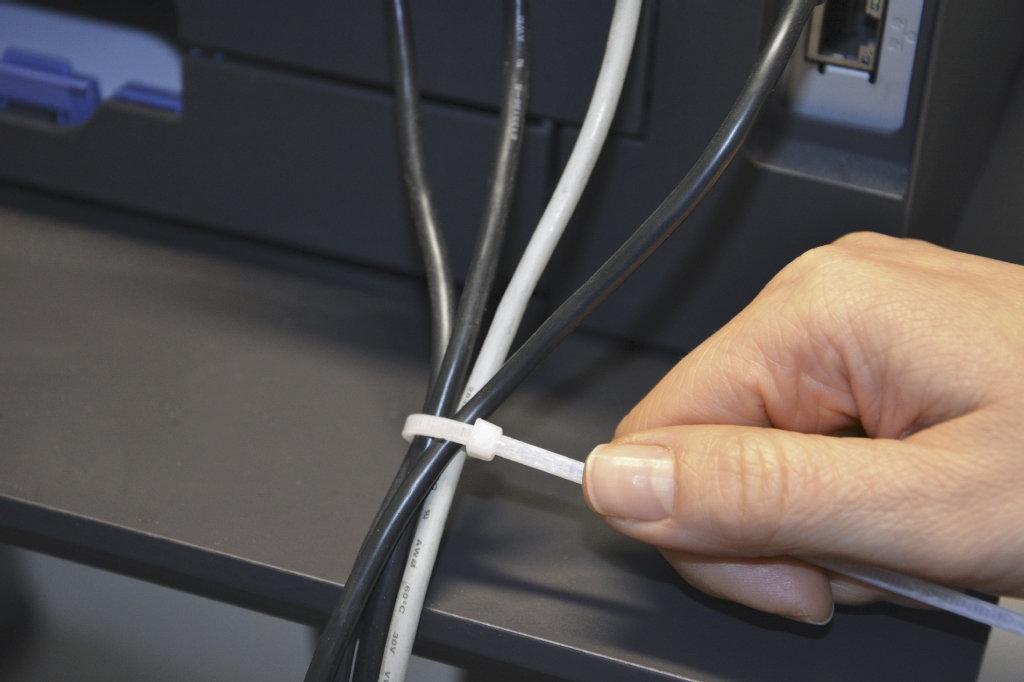 Rawlink kabelstrips, 250 mm, hvid, 50 stk.