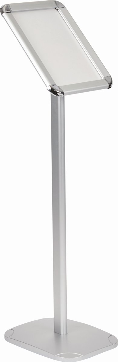 Skilteholder på fod, Klip-klap ramme, A4, alu