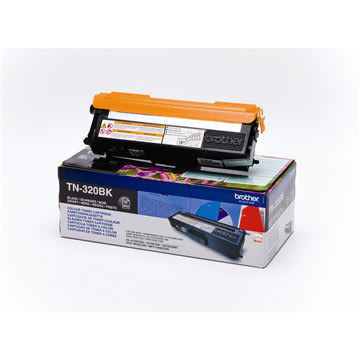 Brother TN320BK lasertoner, sort, 2500s