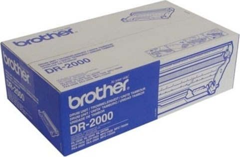Brother DR2000 lasertromle, sort, 12000s
