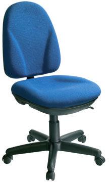 Deluxe kontorstol, blå