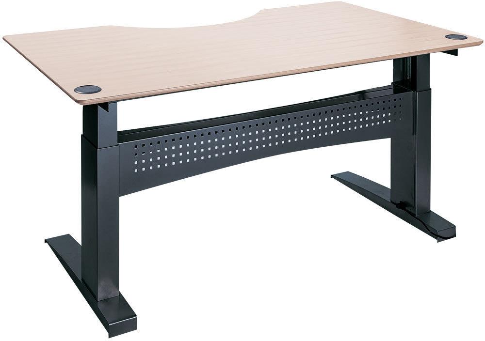 Easy stand 180 hæve/sænkebord centerbue ahorn/sort