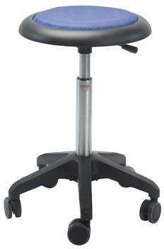 Micro Stol, fodkryds m/ hjul, sort