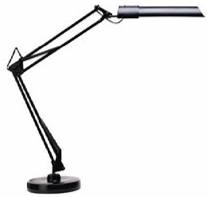Unilux Swingo lampe sort med bordfod