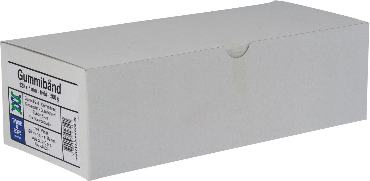 Elastikker 120x5mm, 500g, hvide