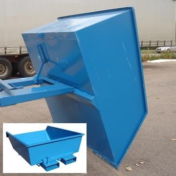 Tipcontainer lav 900 l blå