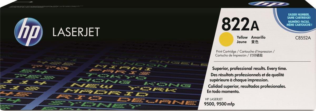 HP 822A/C8552A lasertoner, gul, 25000s