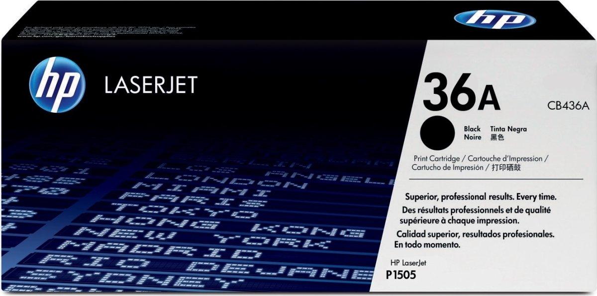 HP nr.36A/CB436A lasertoner, sort, 2000s