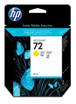 HP nr.72/C9400A blækpatron, gul, 69ml