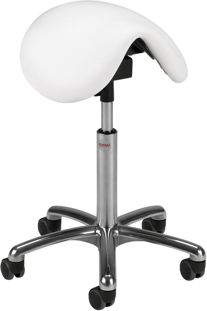 CL Pinto sadelstol, sort, stof, 58-77 cm