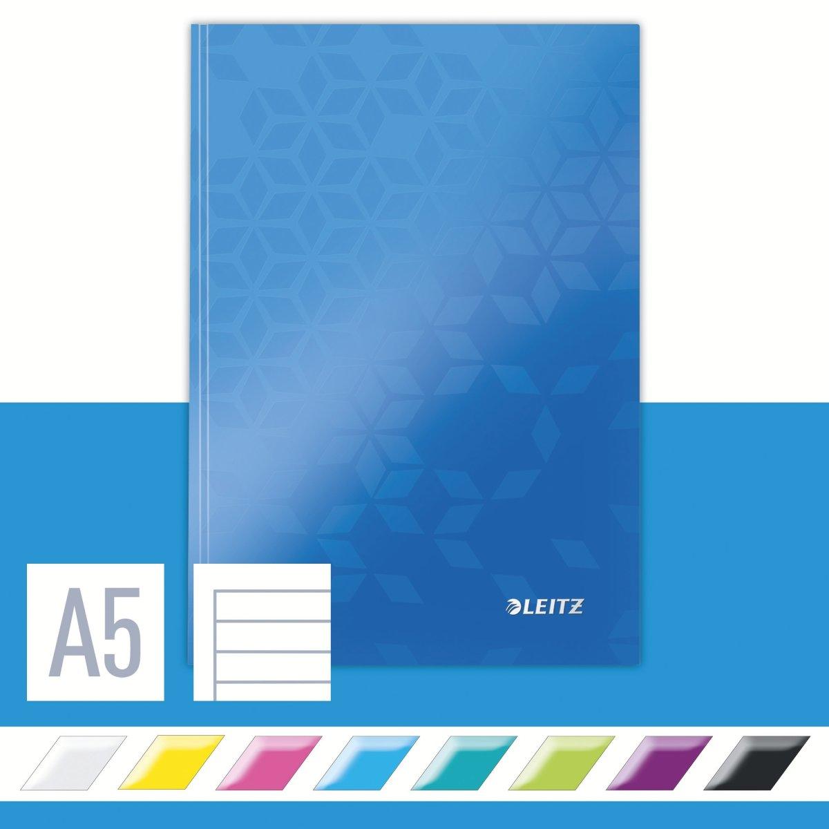 Leitz WOW notesbog A5, linjeret, blå