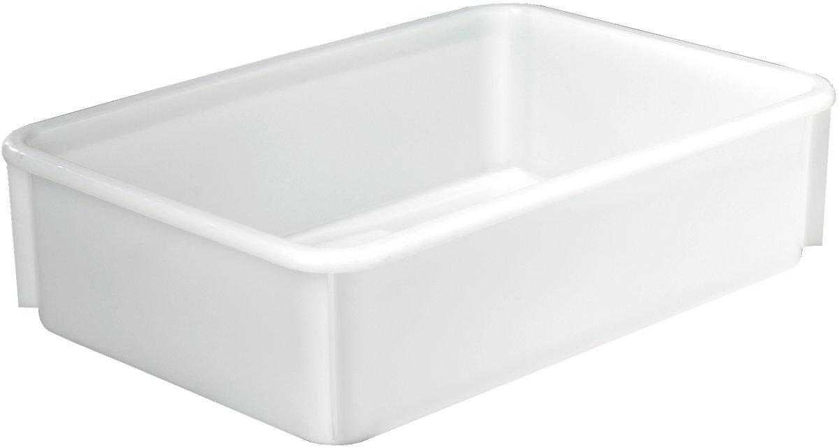 Lagerkasse 38 l, Hvid, (LxBxH) 630x420x170 mm