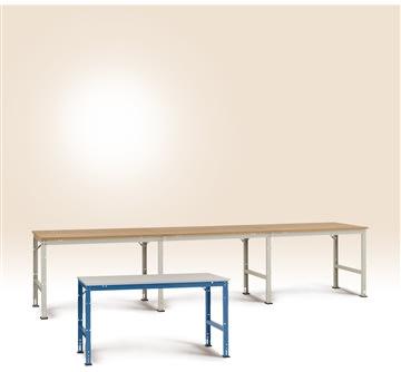 Manuflex arbejdsbord 150x80, Grå melamin, Grund
