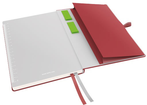 Leitz Complete notesbog A5, linjeret, rød