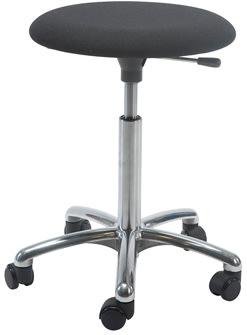 Beta Stol, Alu-fodkryds m/ hjul, sort