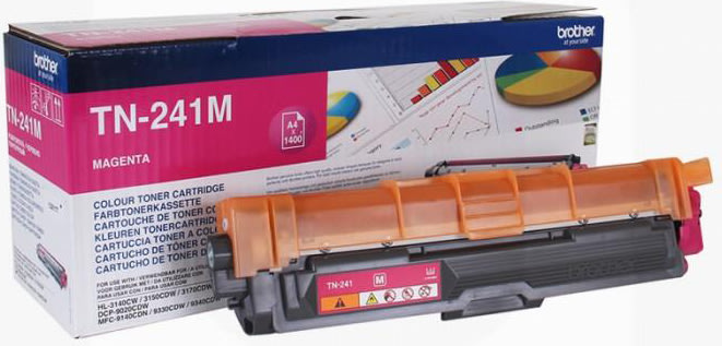 Brother TN241M lasertoner, Magenta, 1400 sider