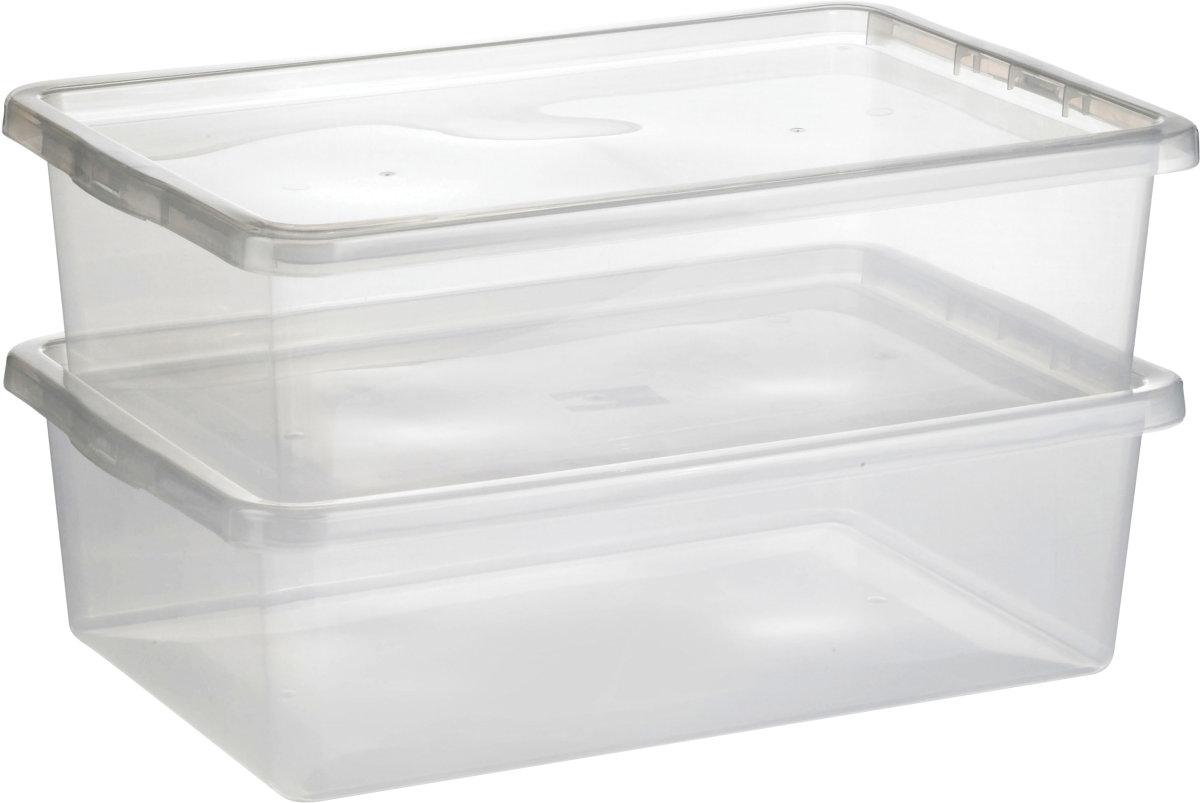 Efterstræbte Basic plastboks inkl låg, 30 liter, Klar - Lomax A/S MV-42