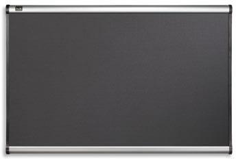 Opslagstavle Prestige 120x90 cm, sort