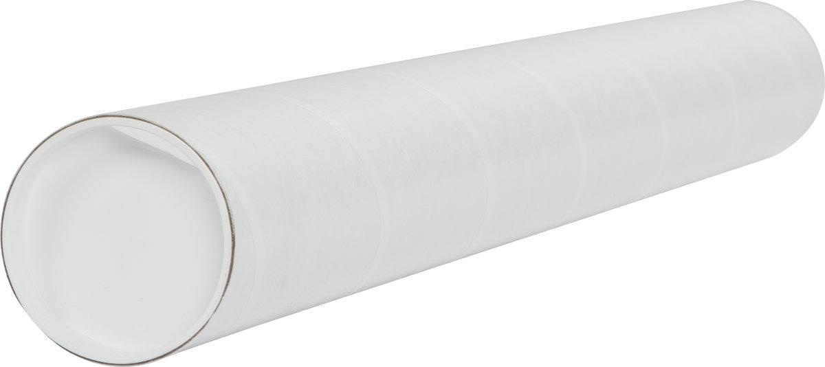 Paprør med låg, Ø70 x 2,0 x 745 mm